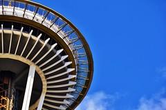Space Needle (glowygirl) Tags: seattle washington space needle architecture landmark sky blue