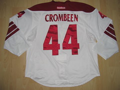 #44 B.J. CROMBEEN Game Worn Jersey (kirusgamewornjerseys) Tags: arizona coyotes game worn jersey crombeen nhl ice hockey