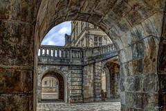 Chteau de Fontainebleau - HDR (gilles_t75) Tags: d5300 france gillest hdr nikkor1855mmf3556 nikon bracketing exposurefusion highdynamicrange photohdr photomatix tonemapping fontainebleau seineetmarne77 ledefrance chteau escalier