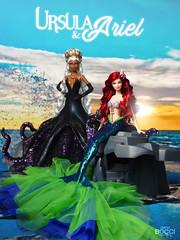 Ursula & Ariel (davidbocci.es/refugiorosa) Tags: ursula ariel barbie mattel fashion doll mueca refugio rosa david bocci ooak disney sirena little mermaid