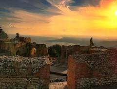 Sunset (sarabiolcati1) Tags: sicily italy sunset iphone taormina