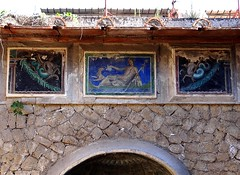 Casa dello Scheletro, Herculaneum - Scavi di Ercol (Anne O.) Tags: scavidiercolano herculaneum unescoweltkulturerbe wandmalerei fresko