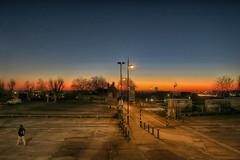 29112916_Ignoring the sunrise (Damien Walmsley) Tags: sun rise oblivious colours cold birmingham blue car park carpark