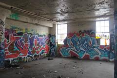 Nive, Yonk (NJphotograffer) Tags: graffiti graff new jersey nj newark abandoned building urban explore nive pdv crew clout yonk