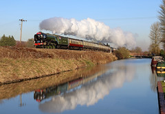 60163 Tornado looking glorious at Crofton (in explore) (Andrew Edkins) Tags: lner bluesky picture image photo freezing cold headboard railtour vintage excursion trip travel wintersun kettle applegreen engine flickr explored explore steam 462 2016 pumpinghouse 60163 tornado a1class geotagged crofton canal water mainlinesteam uksteam steamtrain pacific peppercorn canon sun bathspachristmasmarket winter charter railwayphotography wiltshire preserved heritage exhaust reflections december