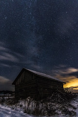 Starry night (ArtDvU) Tags: starry night nightscape sky barn milky way finland winter december canon eos 7d mark ii field southern ostrobothnia