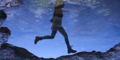 307/366: over the moon (Andrea  Alonso) Tags: me selfportrait autorretrato 366 365 beach water reflection jump salto reflejo botas playa agua mar