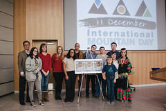Group photo of UIMF members with Ms. Mehak Asad, guest from Pakistan after the event (UIMF, Utah Valley University) Tags: internationalmountainday imd uvu uimf mps mountainpartnership unitednations un sdgs sustainabledevelopment