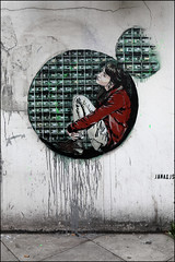 Jana & JS (Alex Ellison) Tags: urban streetart stencil mural painted shoreditch eastlondon janajs