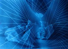 {imaginarium} (Curro Rodrguez Visual Artist) Tags: blue azul paper fractal papel universe virado universo imaginarium cianotipia