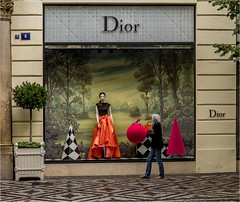 Window shopping Dior PRAGUE (Blackburn lad1) Tags: street red people tourism window beautiful canon perfect europe prague praha tourist shops czechrepublic shopwindow phaha