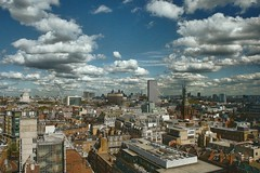Roofs and more (Мaistora) Tags: city uk roof england sky panorama sunlight london rooftop skyline bar clouds hotel smog george day cityscape view skyscrapers zoom cloudy britain sony horizon towers roofs kit sight 1855mm viewpoint birdseye centrepoint vantage centerpoint topaz adjust birdeye citiscape nex denoise maistora nex5 yahoo:yourpictures=weather photofxlab fxlab