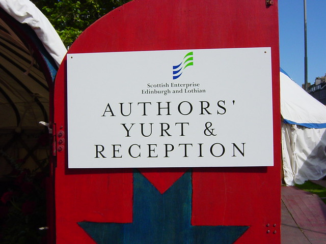 Welcome to the Authors' Yurt (in 2002)