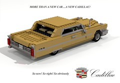 Cadillac 1965 Coupe DeVille (lego911) Tags: auto classic car model 60s lego render cadillac chrome 1960s 69 deville coupe challenge v8 fins cad lugnuts 1965 povray moc ldd miniland summerof69 lego911