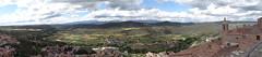 View from the Parador de Cardona toward the Pyrenees