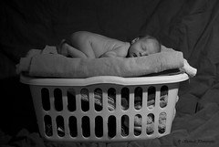 Laundry (TStanisch) Tags: new sleeping bw baby infant fresh laundry newborn welcome sleepingbaby
