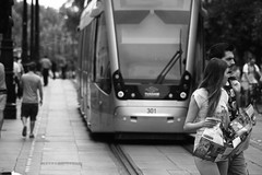 (Jacobo Canady) Tags: blackandwhite espaa blancoynegro blackwhite sevilla andaluca spain couple downtown pareja centro tram seville andalusia tranvia avenidadelaconstitucin