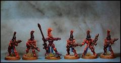 Eldar Aspect Warriors - Fire Dragons (feelinstrangelyfine) Tags: miniatures dragons 40k warhammer tabletop eldar warhammer40k firedragons