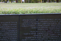 Maya Lin, Vietnam Veterans Memorial, top edge