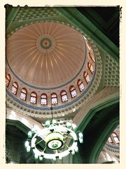 Interior facade of Masjidil Haram (kijal) Tags: architecture lights design angle interior mosque deco mecca kijal masjid makkah iphone 2013 baitullah iphone5 masjidilharam 1434h uploaded:by=flickrmobile flickriosapp:filter=nofilter almasjidalharam