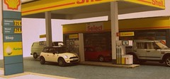 Filling up. (kingsway john) Tags: scale station model models card kit oo gauge diorama kingsway filling 176