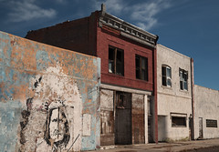 Ghost Town (XSNRG27) Tags: art abandoned town mural indian ghost places wyoming geronimo shoshoni