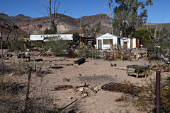Overview of Ed's Camp on Route 66 Southwest of Kingman, Arizona (eoscatchlight) Tags: arizona abandoned route66 roadsideamerica yesteryear edscamp calnevari ofdaysgoneby