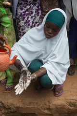 """I wash my hands with soap always to remain healthy"", says a girl child in Bichi, Kano state"