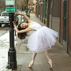 Rosie with sign. (imagesbyrustin) Tags: ballet white girl beautiful point asian dance athletic ballerina colorado tights skirt glenwood artsy springs pointe tutu