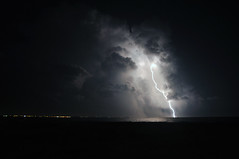 L'ira degli dei - The wrath of the gods. (sinetempore) Tags: light sea sky night clouds nuvole mare cielo lightning salento puglia notte luce lampo fulmine saetta flashoflightning mygearandme thewrathofthegods liradeglidei