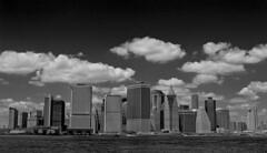 manhattan new york (Daz Smith) Tags: city nyc sky bw white ny newyork black water skyline clouds buildings manhattan horizon bigapple dazsmith