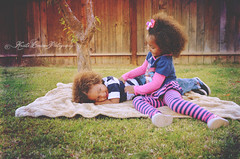 (Krista Cordova Photography) Tags: boy playing tree fall girl kids children fun happy sister brother brotherandsister tickling cutekids sisterandbrother hispanicchildren africanamericanchildren