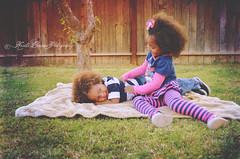 (Krista Cordova Photography) Tags: boy playing tree fall girl kids children fun happy sister brother brotherandsister tickling cutekids sisterandbrother hispanicchildren africanamericanchildren