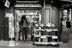 newsstand (kathleen.bradley) Tags: nyc newyorkcity bw newyork monochrome newspapers newsstand