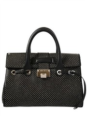 JIMMY CHOO  MEDIUM ROSALIE MICRO STUDDED LEATHER BAG (zavertiose) Tags: winter fall leather bag women top jimmy micro choo medium bags handles rosalie studded 2013 jimmychoomediumrosaliemicrostuddedleatherbagfallwinter2013womenbagstophandles