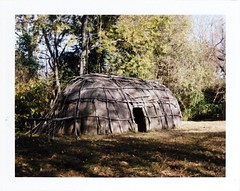 Native American Dwelling (photo_secessionist) Tags: colour film landscape fuji kodak maryland nativeamerican vintagecamera instant 4x5 largeformat graflex speedgraphic piscataway fp100c ektarf47127mmlens