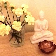 Parami, Herefordshire UK, Simple shrine in my room. Sending metta across the globe #urbanretreat