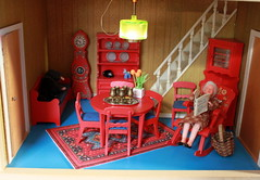 The so called red Leksand (*blythe-berlin*) Tags: orange vintage göteborg toys dolls furniture gothenburg 70s möbel byebye spielzeug dollhouse caco jahre puppenhaus lundby 70ziger biegepuppen doll´shouse