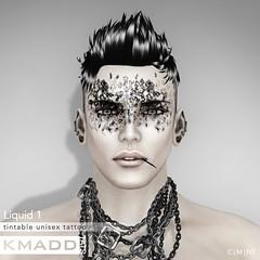 KMADD Tattoo ~ Liquid 1 (www.kmaddmoda.com) Tags: tattoo avatars secondlife facialtattoo maddoxdupont kmadd kmaddtattoo kmaddtats kmaddmoda