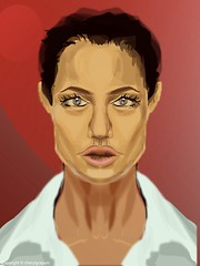 Angelina Jolie - vector only challenge (Cowgirl111) Tags: 3 club sketch only jolie vector anjelina challange ipad
