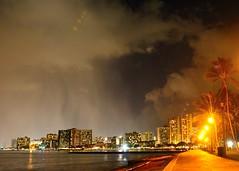 Honolulu Night Sky (kotrp) Tags: rain stars waikiki honolulu iss waikikisunset honolulusky