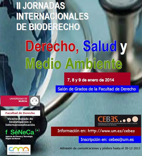 Cartel II Jornadas Internacionales de Bioderecho