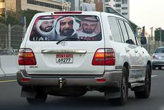 Patriotic feeling (Osdu) Tags: world travel tourism car dubai uae toyota landcruiser unitedarabemirates