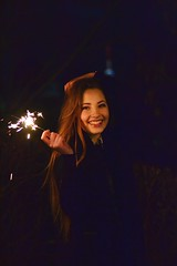 DSC_4052 (life is cinema) Tags: city cute girl beautiful smile night hair fire lights town lithuania brigde