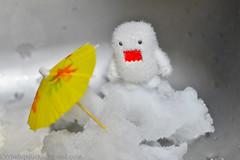 Global warming (WindUpDucks) Tags: urban food snow ice umbrella toy snowman caps vinyl glacier camouflage domo figure polar warming global qee abominable toy2r