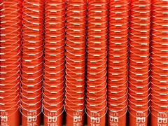 022/365 Buckets (ajbrusteinthreesixfive) Tags: orange home project aj four this photo bucket do lets 4 year columns stack rows depot 365 iphone photoproject 5s brustein 366 threesixfive threesixsix uploaded:by=flickrmobile flickriosapp:filter=nofilter