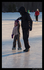 Ice skating newbie (vegarste) Tags: winter sunset ice girl norway norge is vinter nikon europe skating daughter january mother norwegen newbie scandinavia skyter trondheim teach srtrndelag jente learn mor beginner solnedgang datter d800 trndelag theisendammen nybegynner