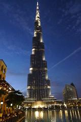 Dubai (koupald) Tags: nightphotography tower water reflections mall lumix photography lights dubai nightshot modernism burj tallbuilding tallestbuilding burjdubai worldstallestbuilding dubaimall panasoniclumixdmclx3