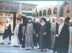 Sistani-Ansari with Sheikhs brother on his left