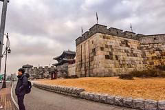 DSC_8074sh Suwon fortress wall and gate exterior korea (camera30f) Tags: city wall yahoo google ancient gate holidays asia flickr photos korea fortress baidu dynasty suwon joseon